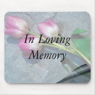 Sorry For Your Loss Pink Tulips Mouse Pad