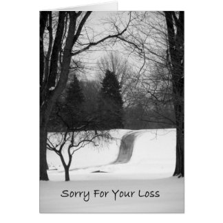 Sorry For Your Loss - Winter Path Greeting Card