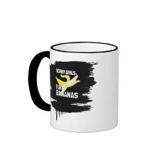 SORRY GIRLS I LIKE BANANAS - WHITE - png Coffee Mugs