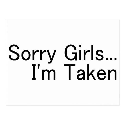 Sorry Girls Im Taken Post Cards