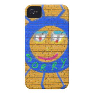 Sorry Graffiti, Art Sad Face, Sadness Regret Case-Mate iPhone 4 Case