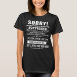 Sorry I Am have Crazy Boyfriend He Was Born in Sep T-Shirt