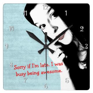 Sorry I Am Late Funny Wall Clock