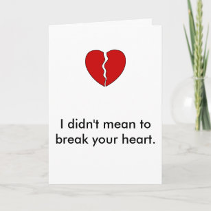 Broken Relationship Cards Zazzle