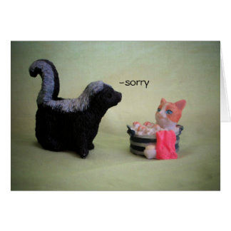Sorry I can be a stinker Cat Meme Card