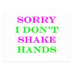 Sorry I Don't Shake Hands 2 Postcard