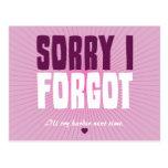 Sorry I Forgot Postcard