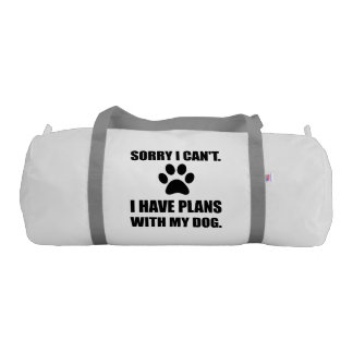 Sorry I Have Plans With My Dog Funny Duffle Bag