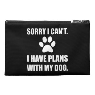 Sorry I Have Plans With My Dog Funny Travel Accessory Bag