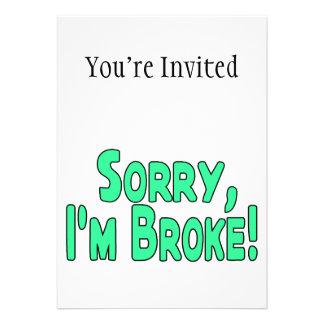 Sorry I m Broke Card
