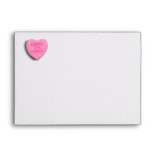 Sorry I m Lesbian Envelopes