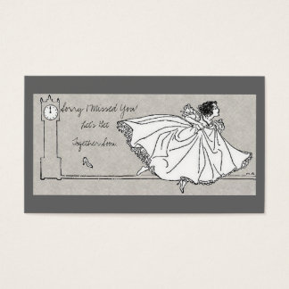 Sorry I Missed You - Cinderella Theme Business Card