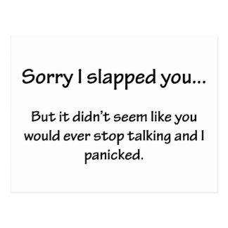 Sorry I Slapped You... Postcard