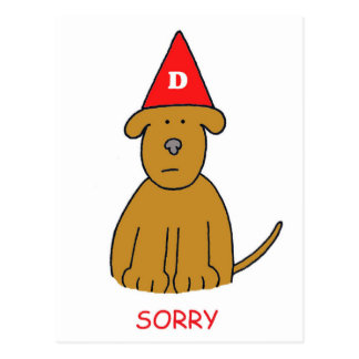 Sorry I ve been an idiot forgive me Postcard