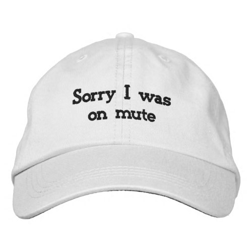 Sorry I was on mute Embroidered Baseball Cap