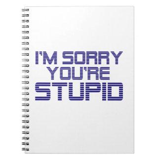 Sorry Ice Notebooks