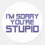 Sorry Ice Sticker