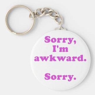 Sorry Im Awkward Sorry Basic Round Button Keychain