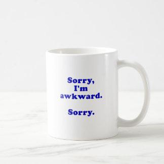 Sorry Im Awkward Sorry Classic White Coffee Mug