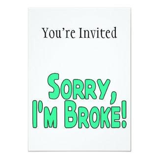 Sorry I'm Broke Card