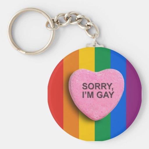 Sorry, I'm Gay Basic Round Button Keychain