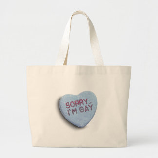 SORRY I'M GAY CANDY TOTE BAGS
