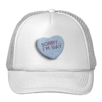 SORRY I'M GAY CANDY TRUCKER HAT