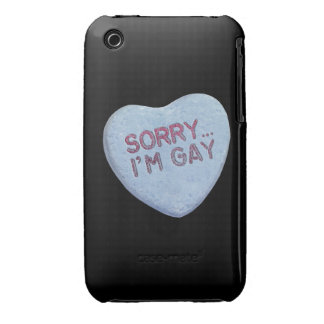 SORRY I'M GAY CANDY -.png iPhone 3 Case-Mate Case