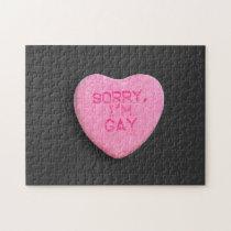 $15.85 - SORRY, I'M GAY JIGSAW PUZZLE. by gay_pride