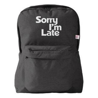 Sorry I'm late Backpack