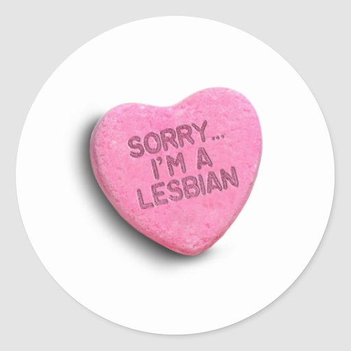 SORRY I'M LESBIAN CANDY -.png Stickers