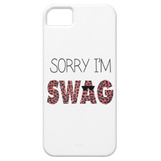 Sorry I'm Swag - Funny Quote, Pink Leopard iPhone 5 Cases
