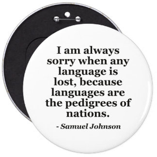 Sorry language lost pedigree Quote 6 Inch Round Button