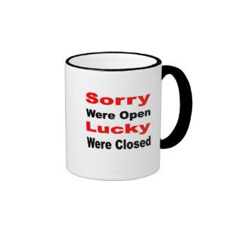 Sorry Lucky Coffee Mug