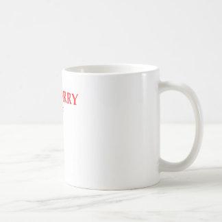 sorry classic white coffee mug