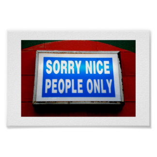 Sorry nice people only print