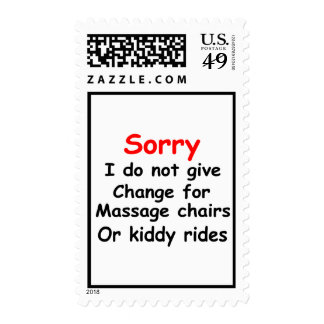 Sorry No Change for Kiddy Rides Postage