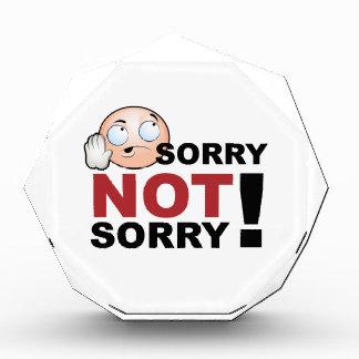 Sorry Not Sorry Cartoon Character Award