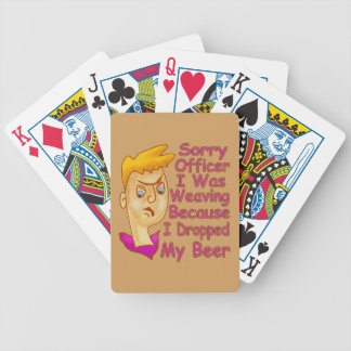 Sorry Officer Bicycle Playing Cards