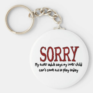 Sorry Outer Adult and Inner Child Keychain