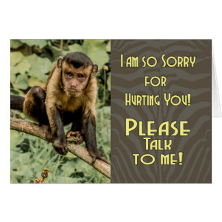 Sorry Please Talk To me, with Sad Looking Capuchin Card