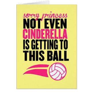 Sorry Princess Volleyball Ball` Card