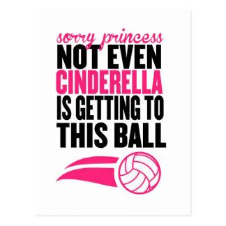 Sorry Princess Volleyball Ball` Postcard