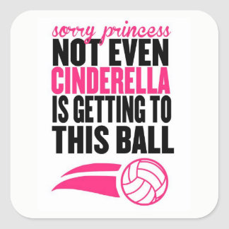 Sorry Princess: Volleyball Square Sticker
