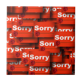 SORRY RED ROSE APOLOGY REGRET FORGIVENESS EXPRESSI TILE
