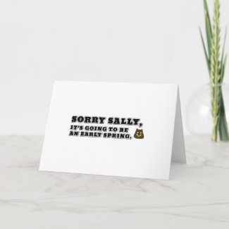 Sorry Sally, early Spring Card