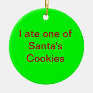 Sorry Santa Ceramic Ornament