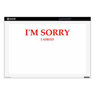 sorry laptop decals