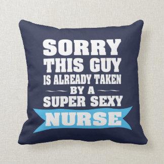 Sorry This Guy is Already Taken Throw Pillow