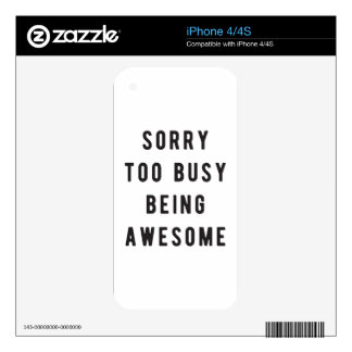 Sorry, too busy being awesome decals for the iPhone 4S
